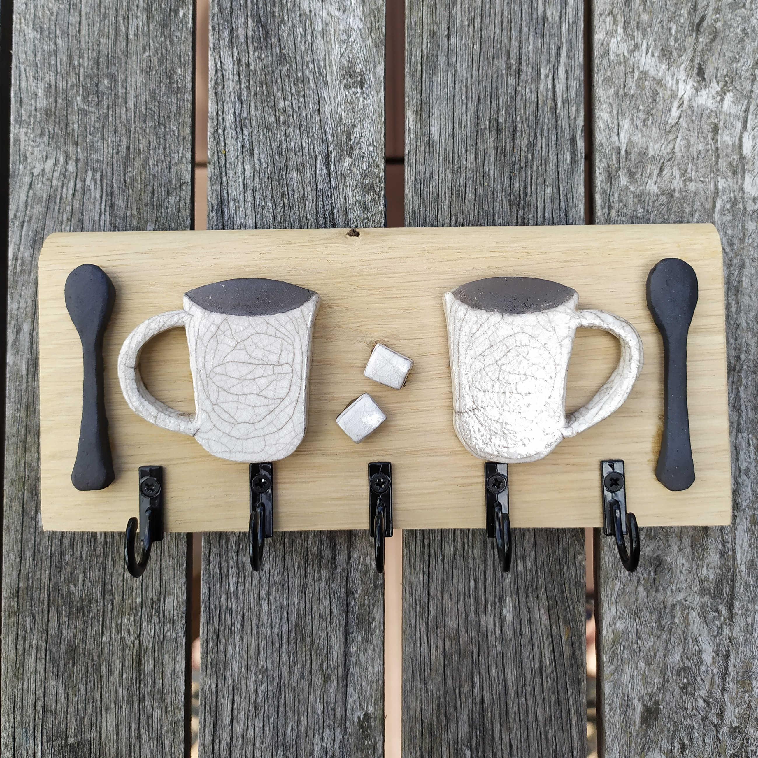 Patère mugs café