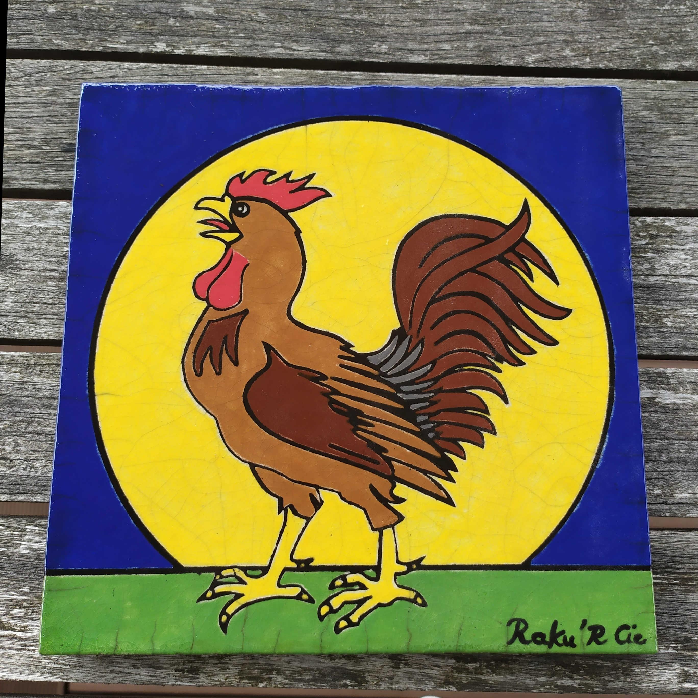 Plaque Coq de Cogolin