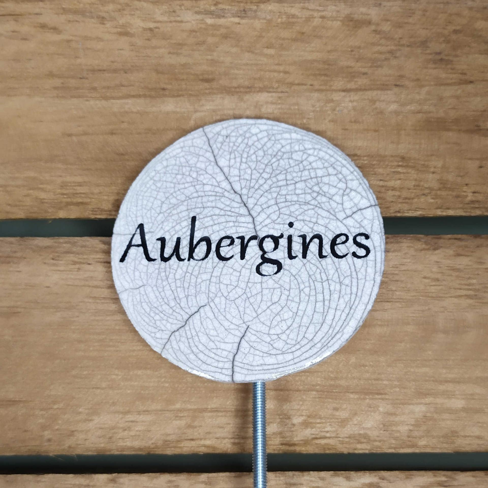 Etiquette potager aubergines