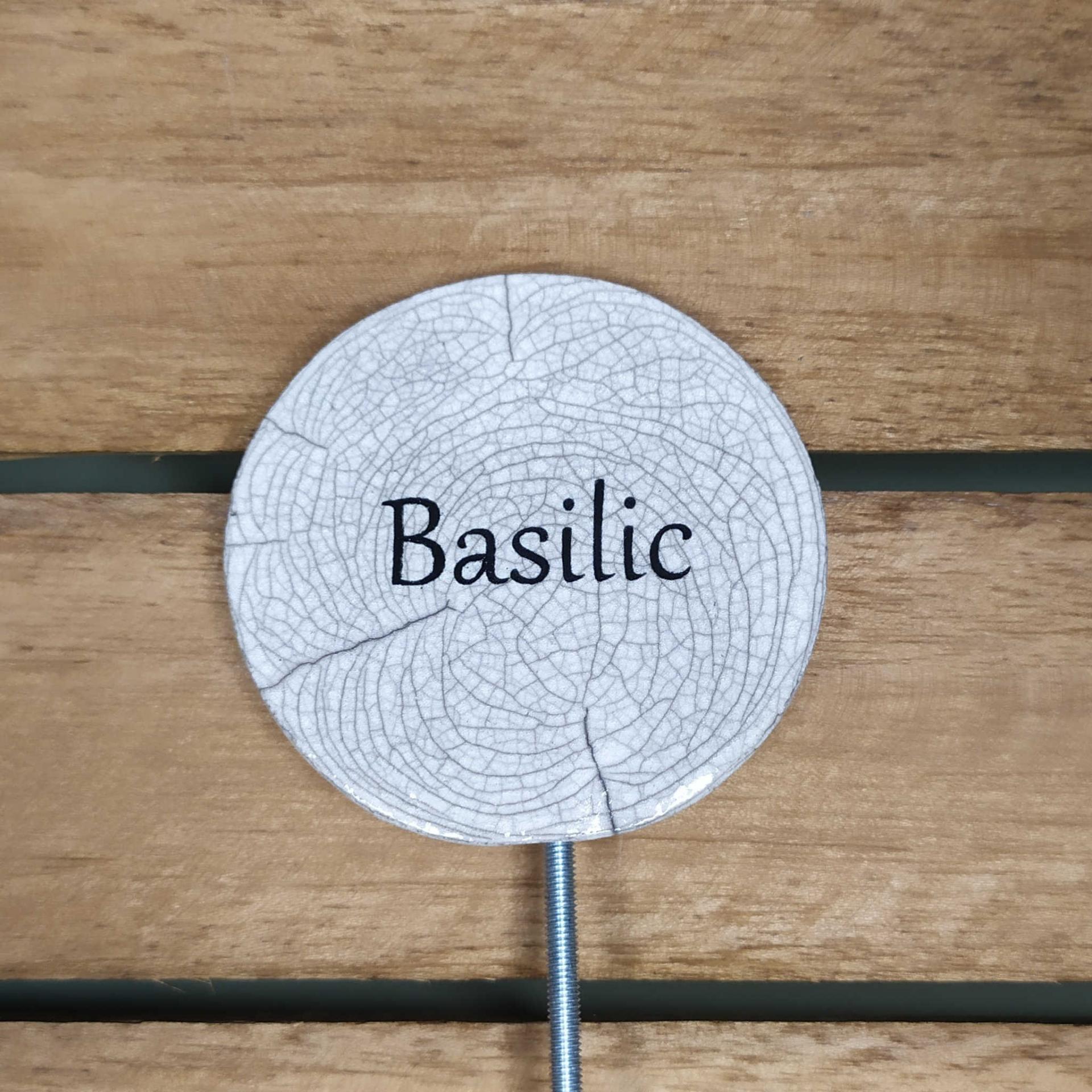 Etiquette potager basilic