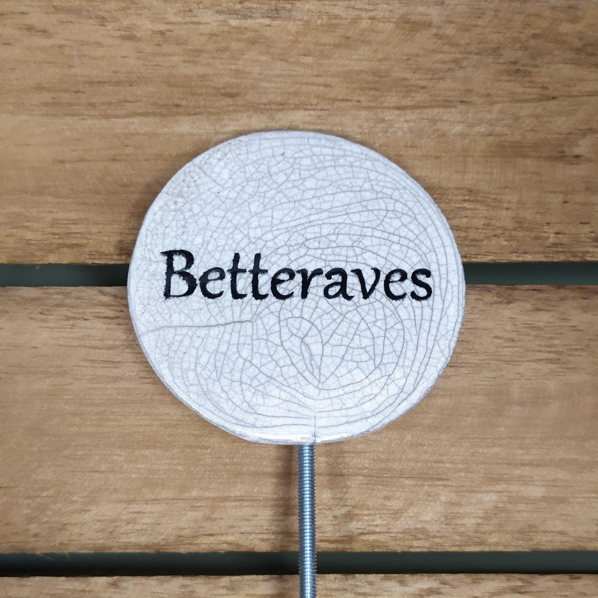 Etiquette potager betteraves