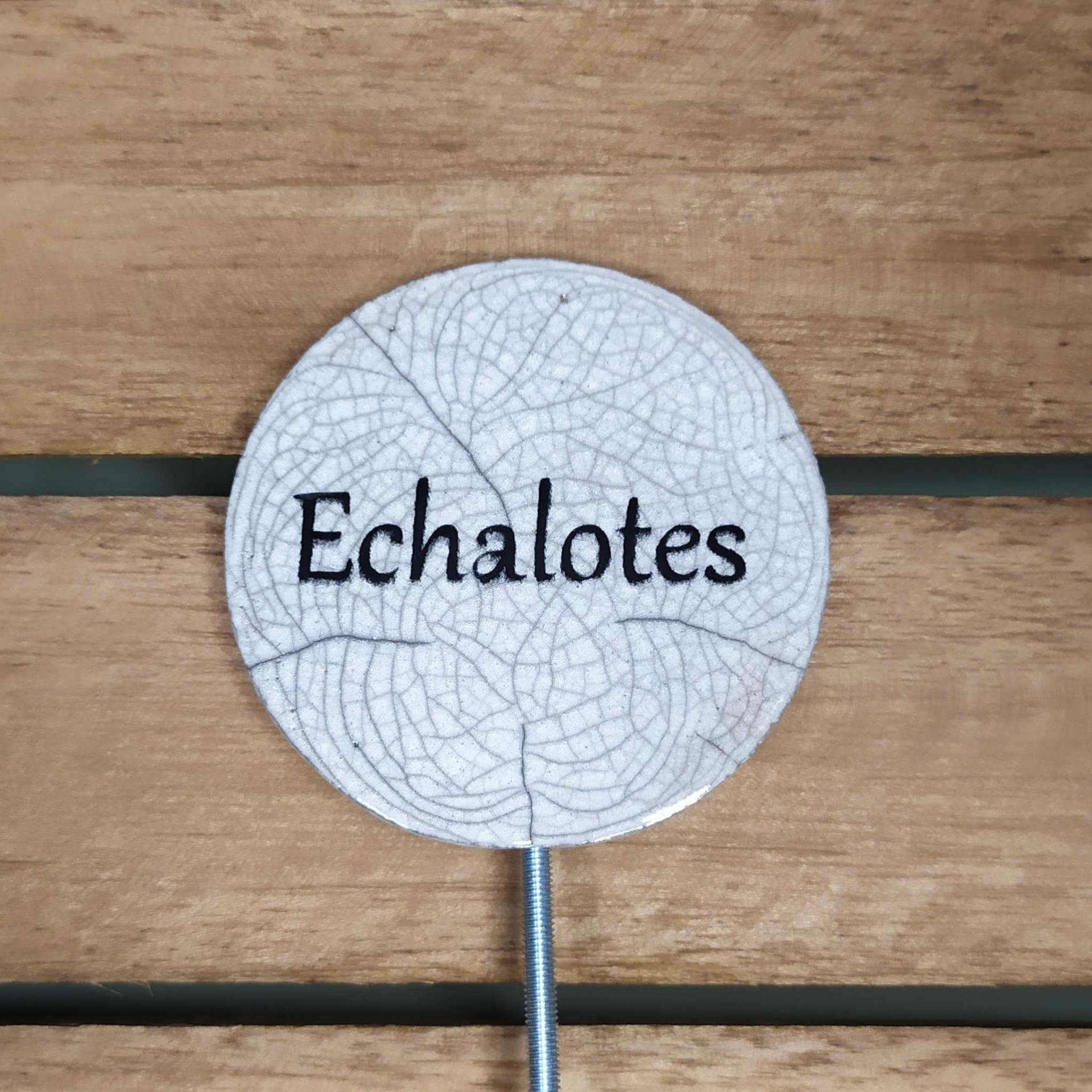 Etiquette potager echalotes