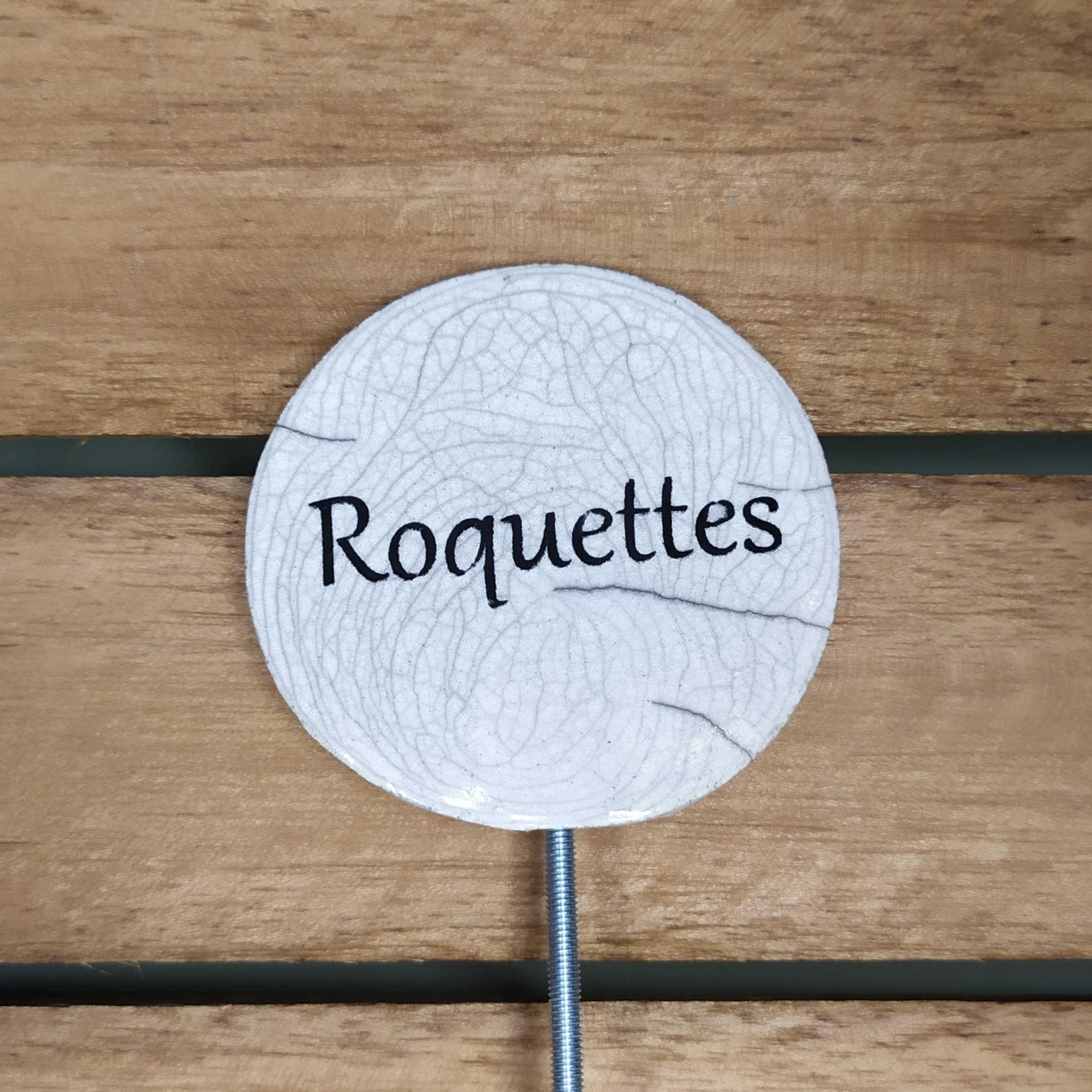 Etiquette potager roquettes