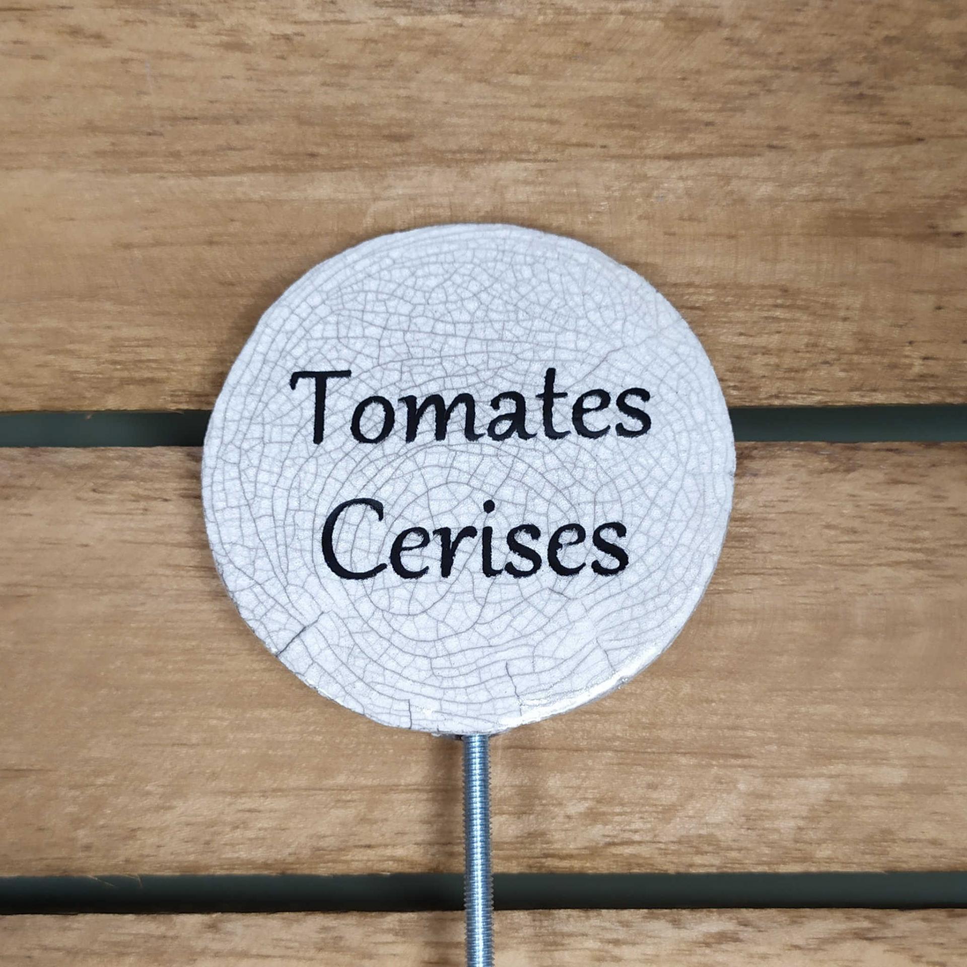 Etiquette potager tomates cerises