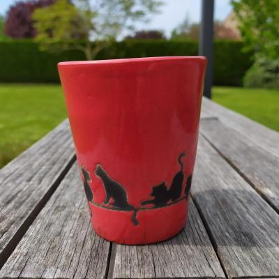 Mug Chat Rouge
