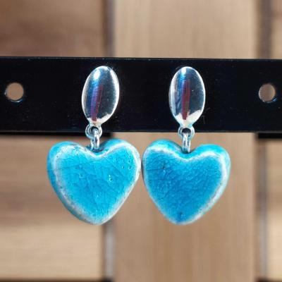 Boucles d'oreilles Coeur Turquoise