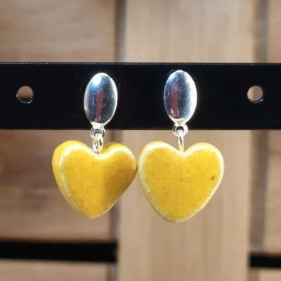 Boucles d'oreilles Coeur Safran