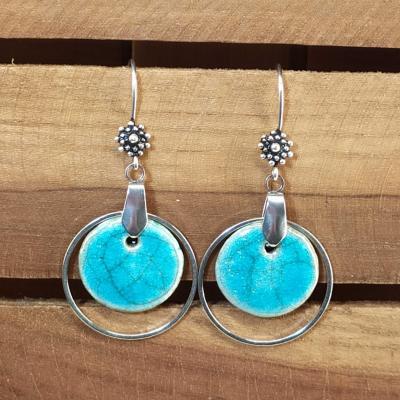 Boucles d'oreilles Rond Chic Turquoise