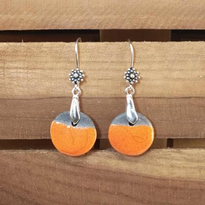 Boucles d'oreilles Rond Orange