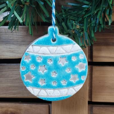 Boule étoilée Turquoise