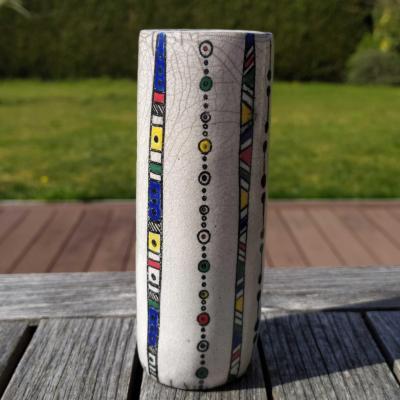 Vase etroit lignes colorees2