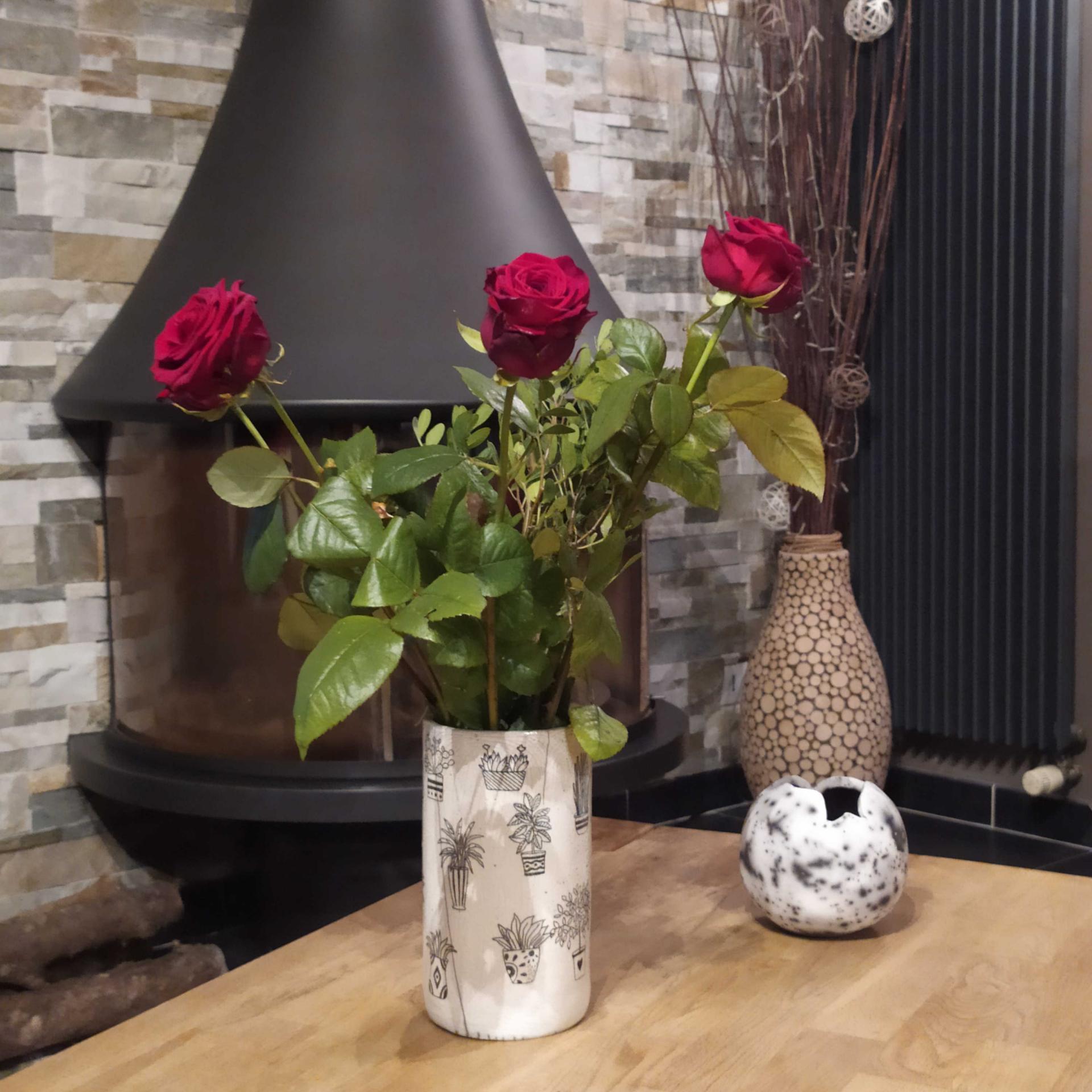 Vase tube pots de fleurs 3