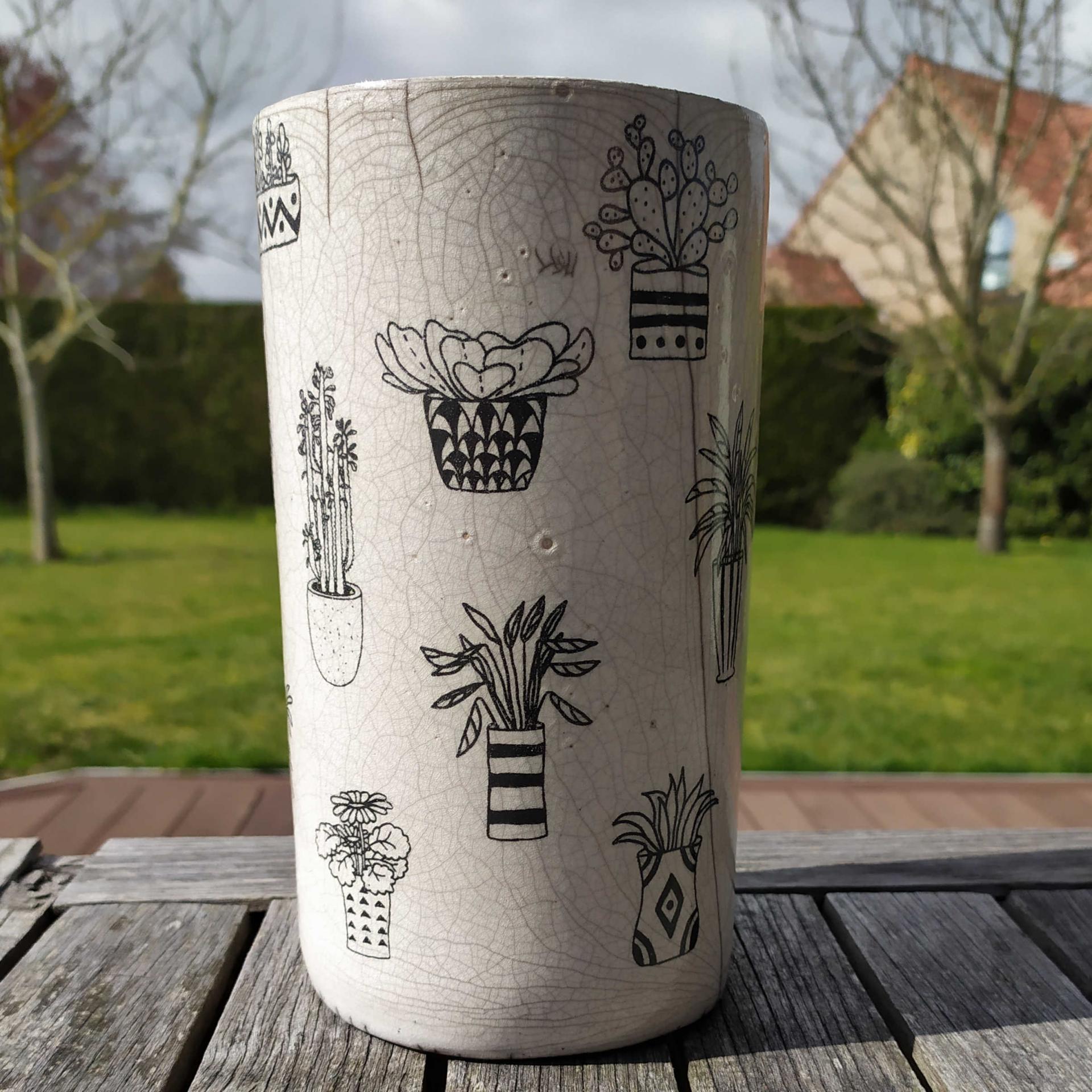 Vase tube pots fleurs
