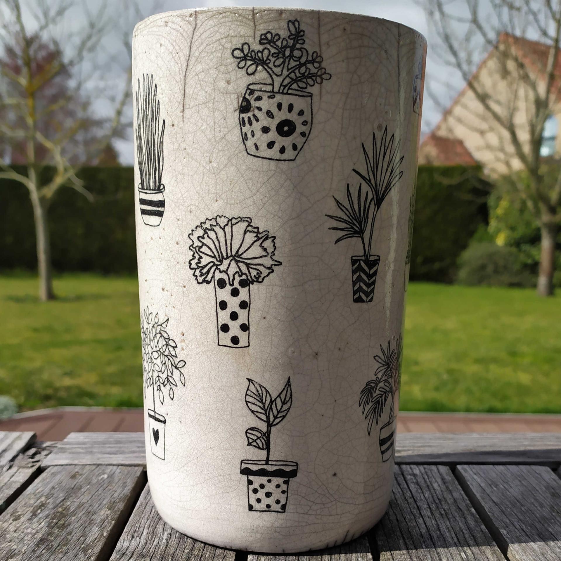 Vase tube pots fleurs2